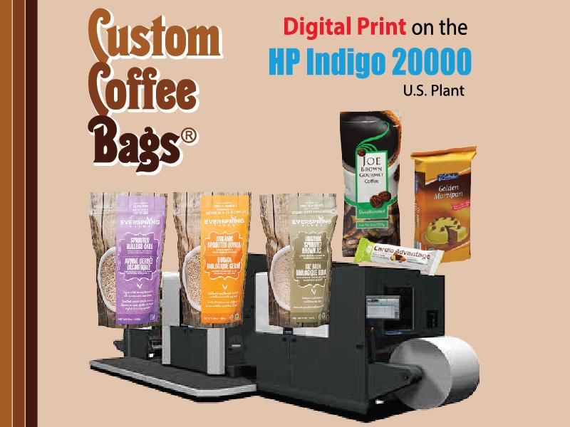 Custom Coffee Bags - Digital Printing
