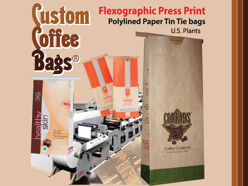 Custom Coffee Bags - Flexographic Print