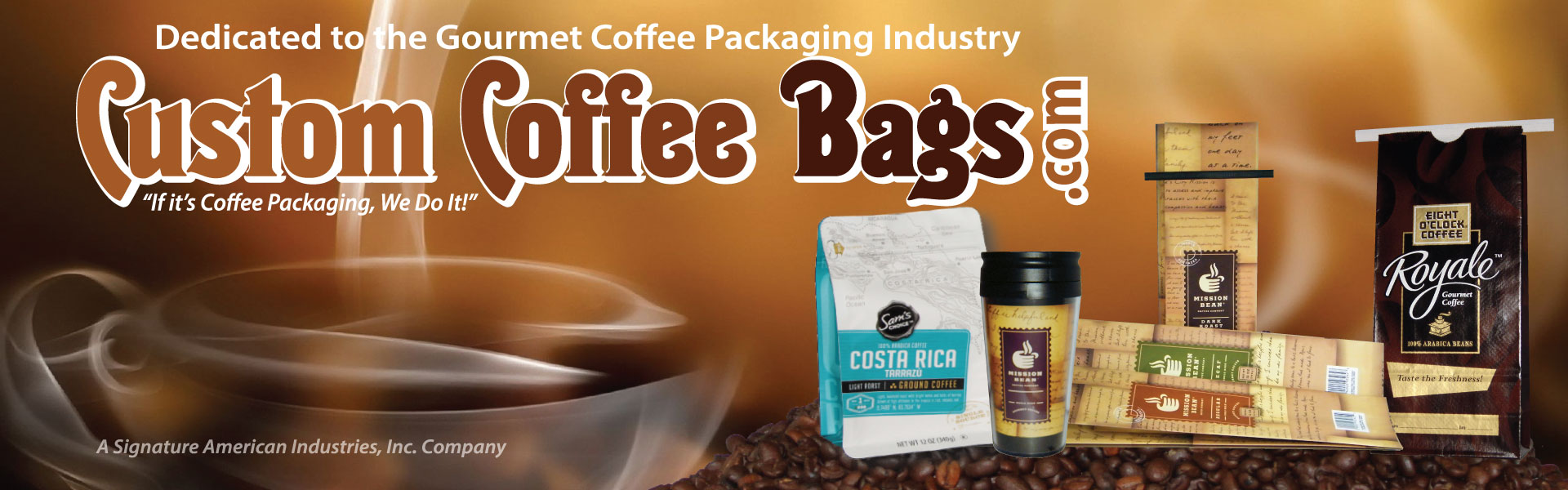 CustomCoffeeBags.com Header Img
