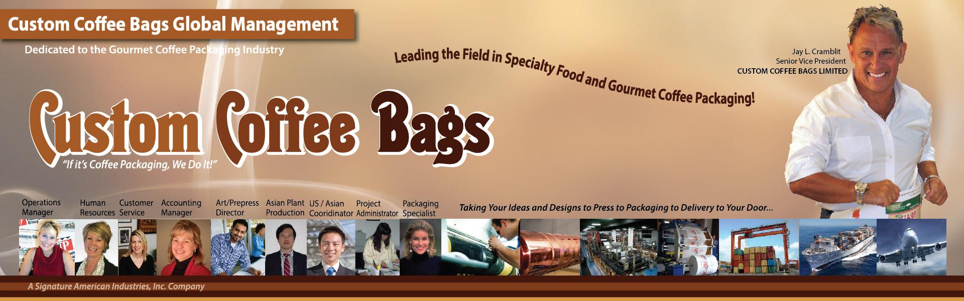Custom Coffee Bags Header coffee packaging bags